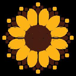 Diseño de mandala de girasol
