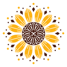 Sunflower mandala design