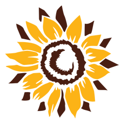 Sunflower cut-out flower