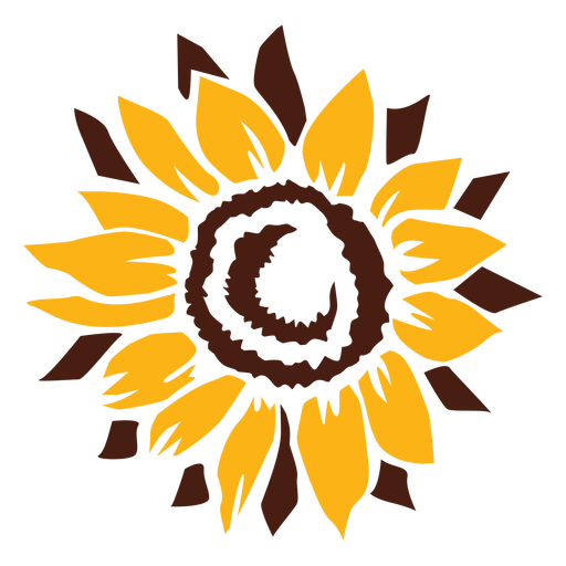 Sunflower cut-out flower Transparent PNG