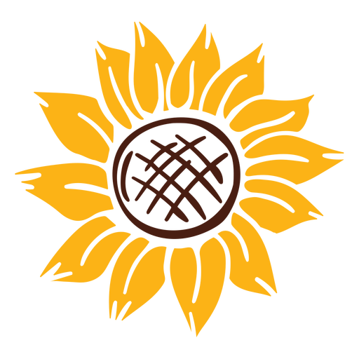 Sunflower cut-out nature