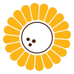Sunflower simple cut-out