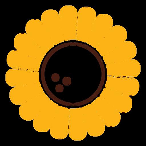 Sunflower simple cut-out Transparent PNG