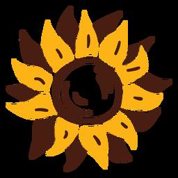 Sunflower doodle flower
