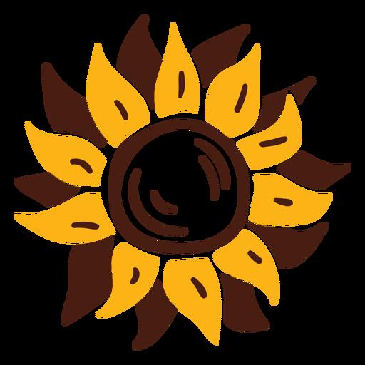 Sunflower doodle flower Transparent PNG