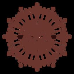 Sunflower mandala style