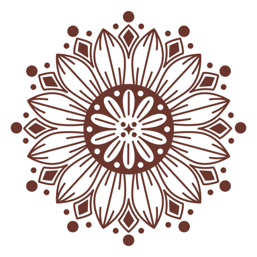 Estilo mandala de girassol