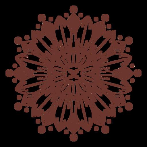 Sunflower mandala style Transparent PNG