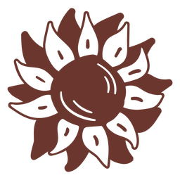 Sunflower brown doodle