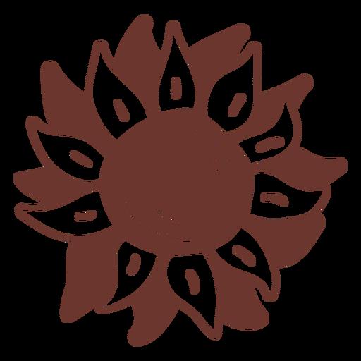 Sunflower brown doodle Transparent PNG
