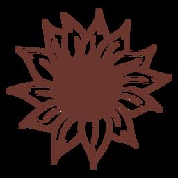 Naturaleza de girasol marrón
