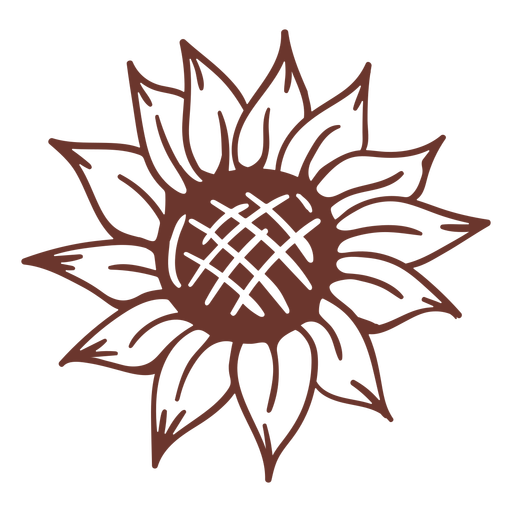 Brown sunflower nature Transparent PNG