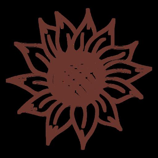 Sunflower nature filled stroke