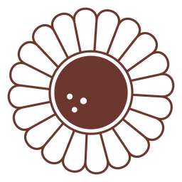 Brown sunflower simple