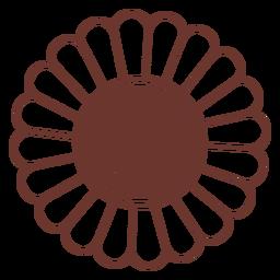 Vista frontal de girasol simple
