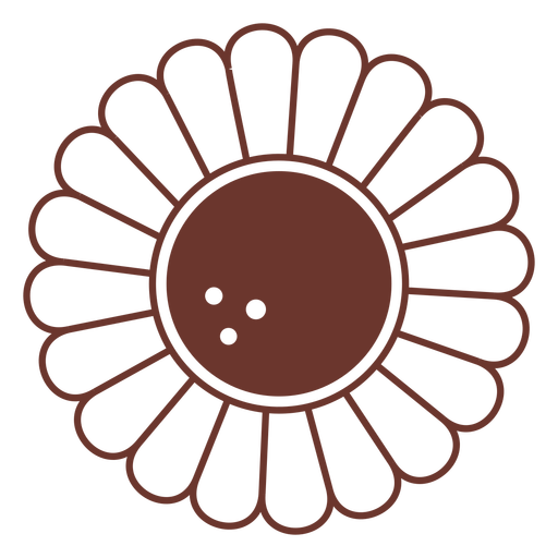 Brown sunflower simple Transparent PNG