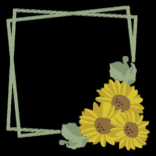 Sunflower green frame Transparent PNG