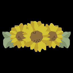 Sunflower tiara nature