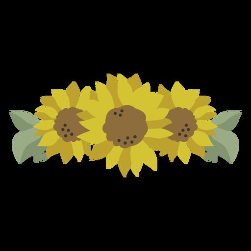 Natureza tiara de girassol