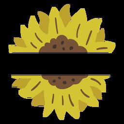 Sonnenblumenetikett Natur