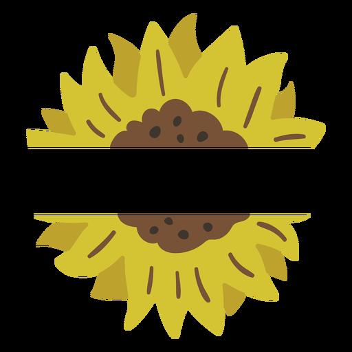 Sunflower label nature Transparent PNG