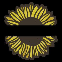 Etiqueta de naturaleza de girasol