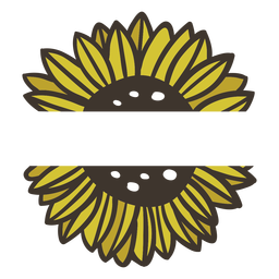 Sunflower nature label