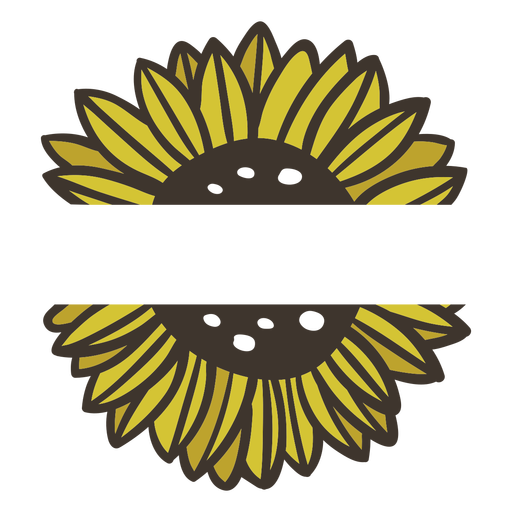 Sunflower nature label  Transparent PNG