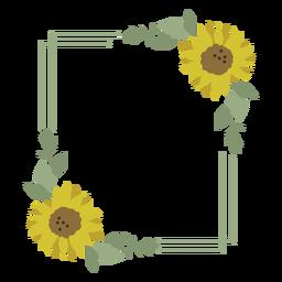 Sonnenblumenblumenrahmen