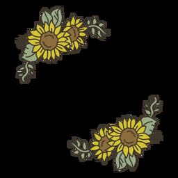 Decoración de color girasol