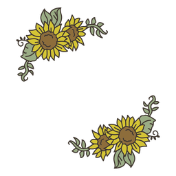 Sunflower color decoration
