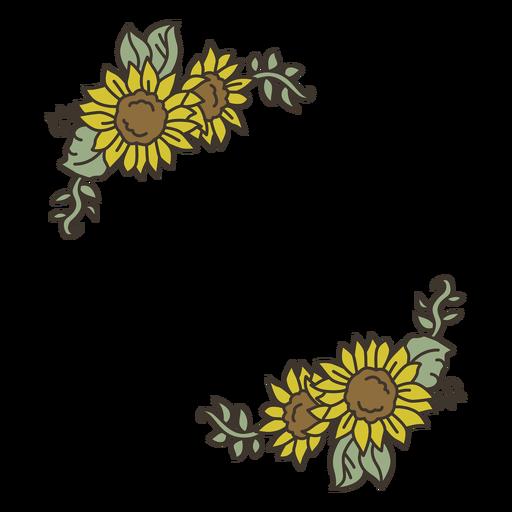 Sunflower color decoration Transparent PNG