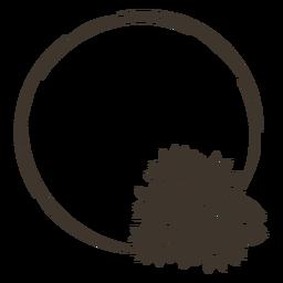 Recorte de marco de círculo de girasol