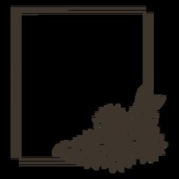 Marco de retrato de rectángulo de girasol