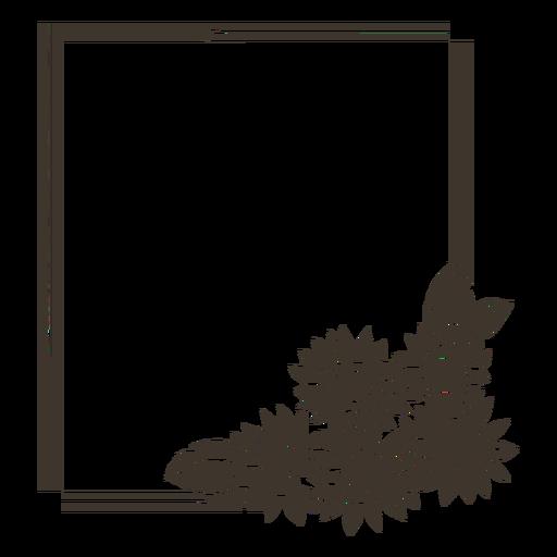 Moldura retangular de girassol