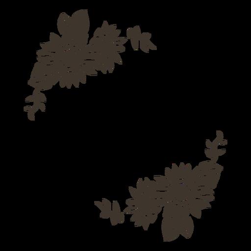Decoración de marco floral de girasol