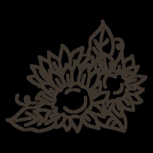 Flores frontera naturaleza decoración