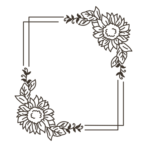 Flower frame nature portrait Transparent PNG