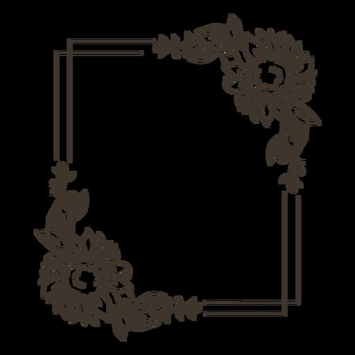 Flower frame nature portrait