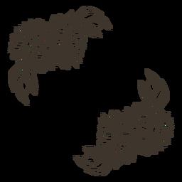 Naturaleza de decoración de girasol