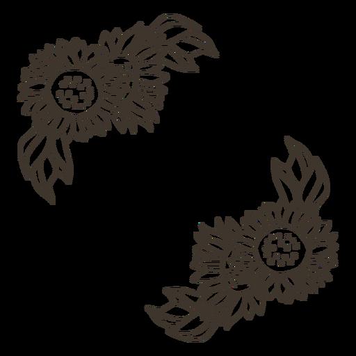 Natureza decoração de girassol