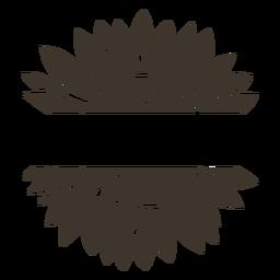 Recorte de etiqueta de girasol