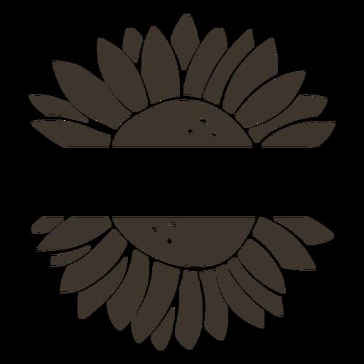 Sunflower label cut-out Transparent PNG