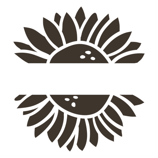 Sunflower label cut-out