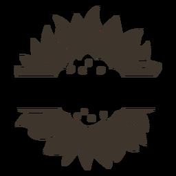Ausschnitt des Blumennaturetiketts