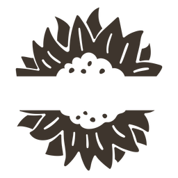Recorte de la etiqueta de la naturaleza de la flor