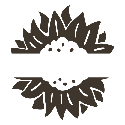 Flower nature label cut-out
