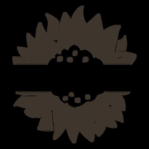 Recorte de la etiqueta de la naturaleza de la flor Transparent PNG