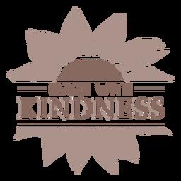 Sonnenblumen-Freundlichkeitsabzeichen