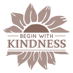 Sunflower kindness badge